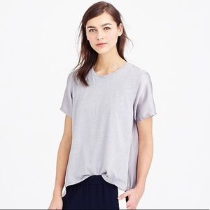 J Crew Silky Knit shirt in silver/grey size S